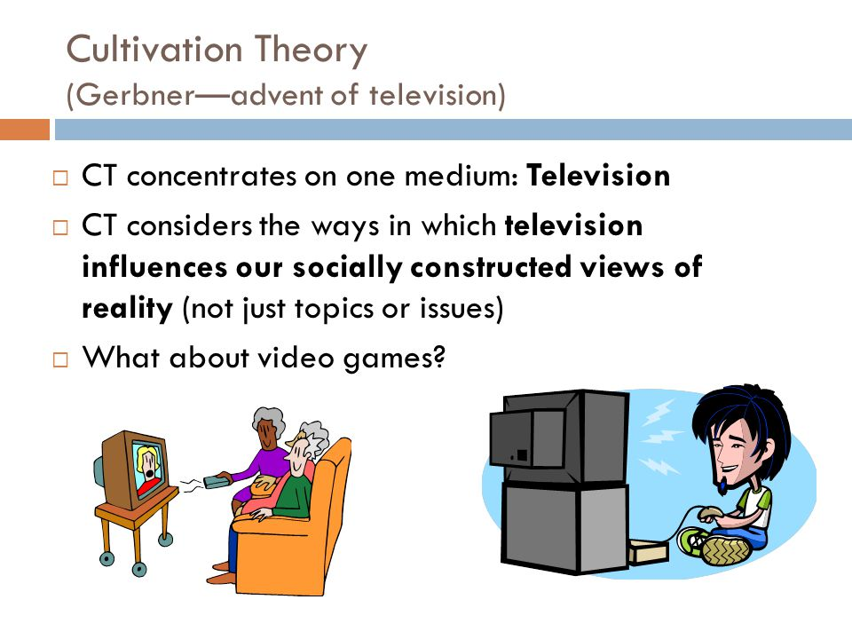 Cultivation Theory (Gerbner—advent of television)