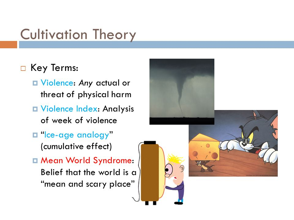 Cultivation Theory Key Terms: