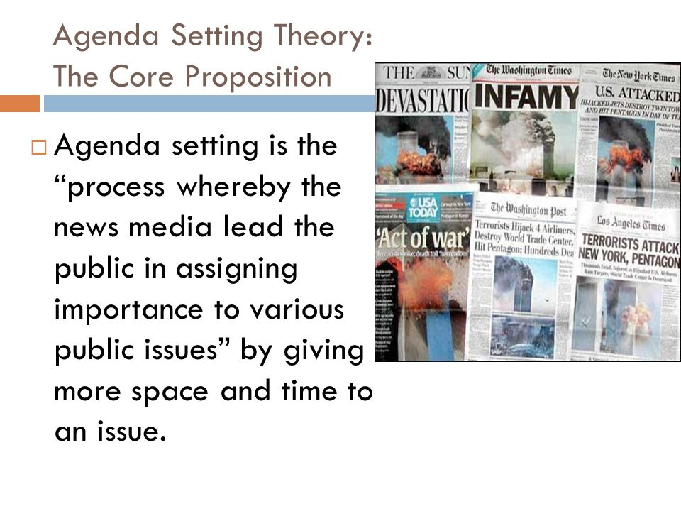 Agenda Setting Theory: The Core Proposition