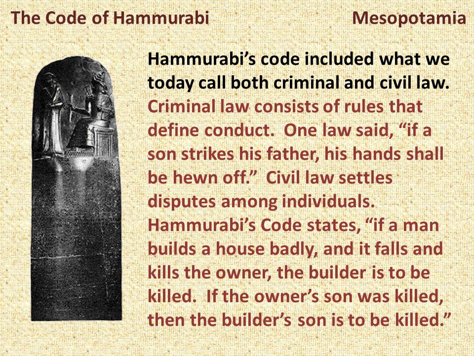 mesopotamia in the hammurabi code