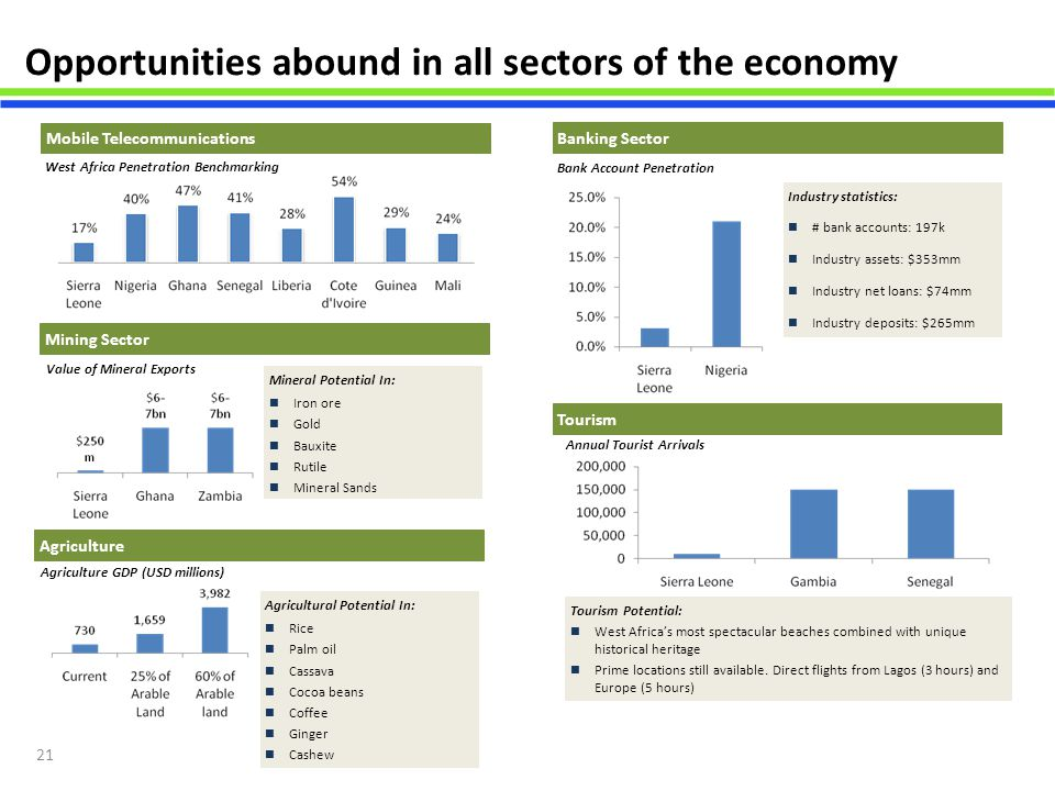 Opportunities abound in all sectors of the economy