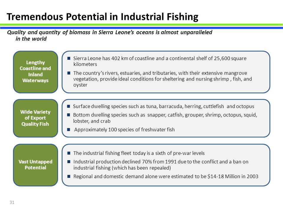 Tremendous Potential in Industrial Fishing