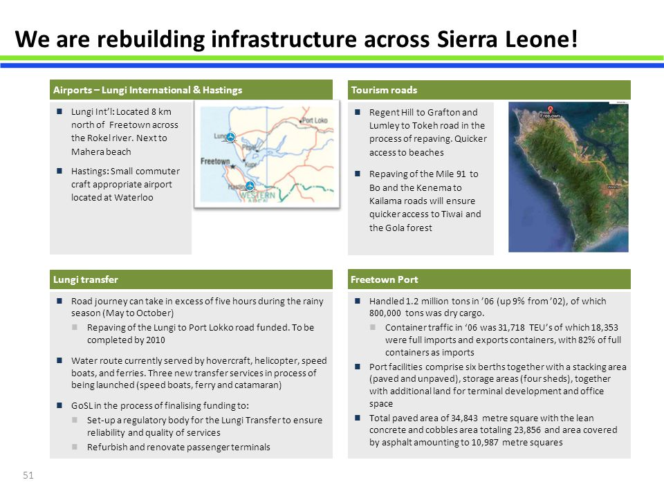 We are rebuilding infrastructure across Sierra Leone!
