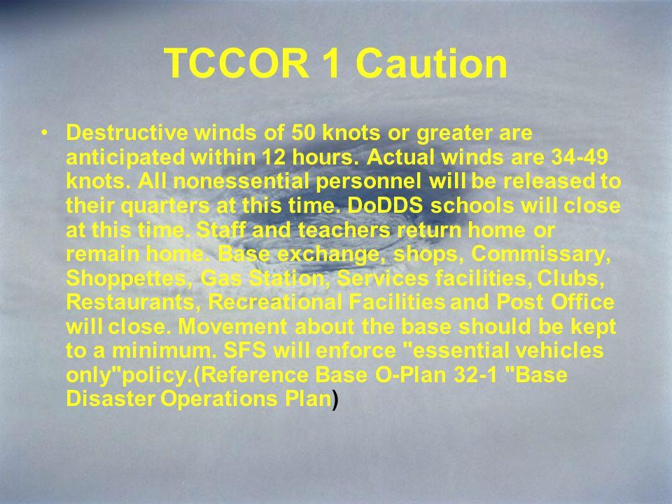 TCCOR 1 Caution