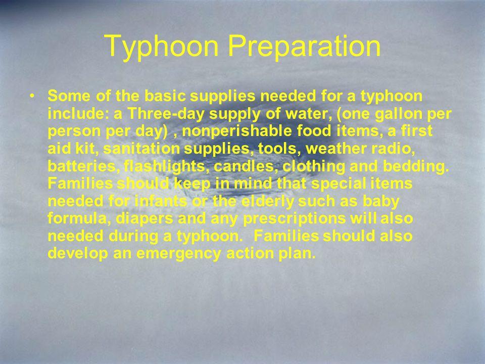 Typhoon Preparation