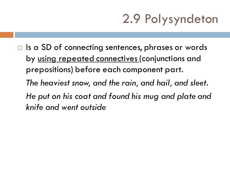 2.9 Polysyndeton