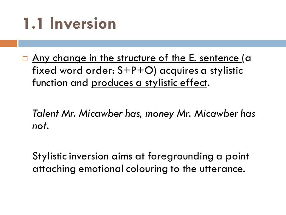 1.1 Inversion