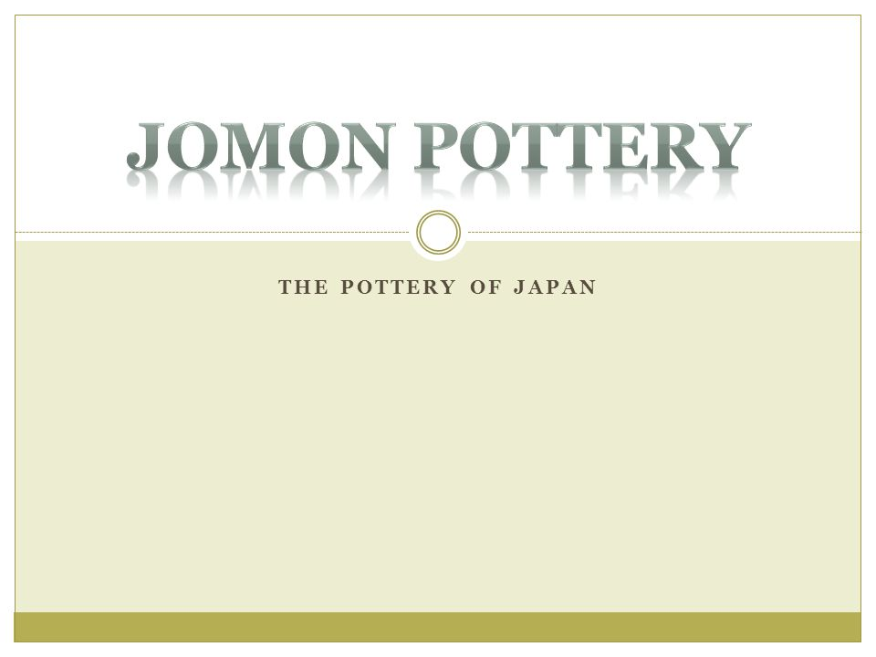 Jomon Pottery The pottery of japan