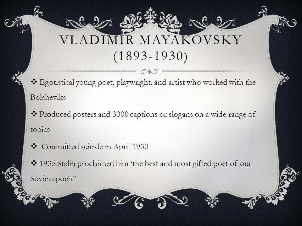 Vladimir mayakovsky (1893-1930)