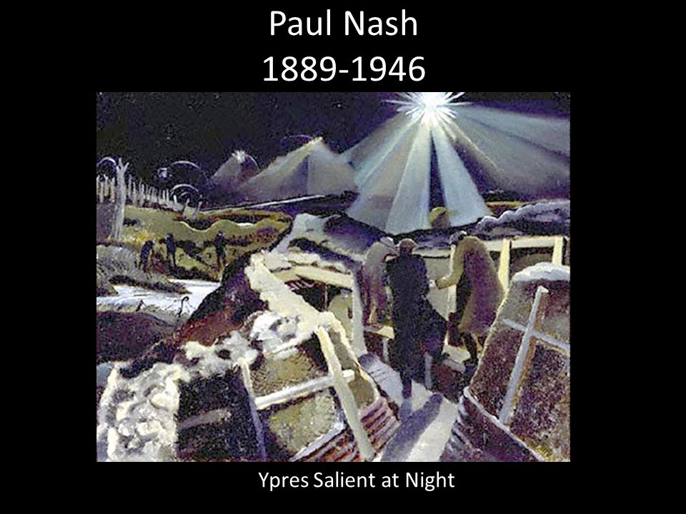 Paul Nash 1889-1946 Ypres Salient at Night