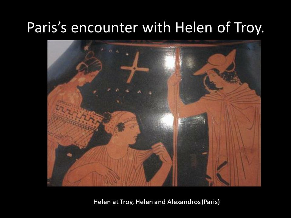 Paris's encounter with Helen of Troy.