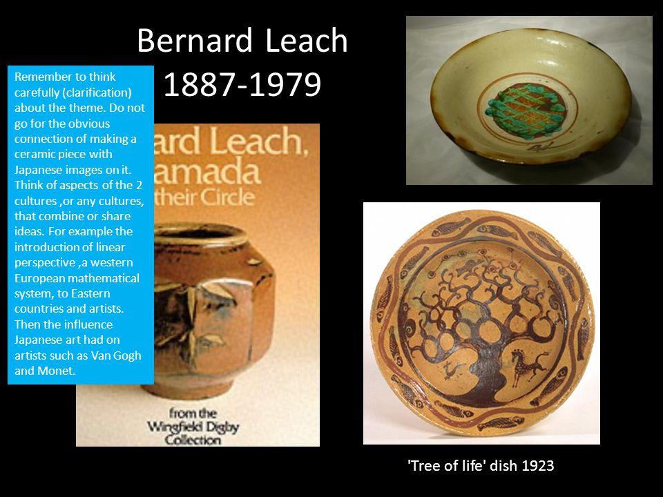 Bernard Leach 1887-1979 Tree of life dish 1923