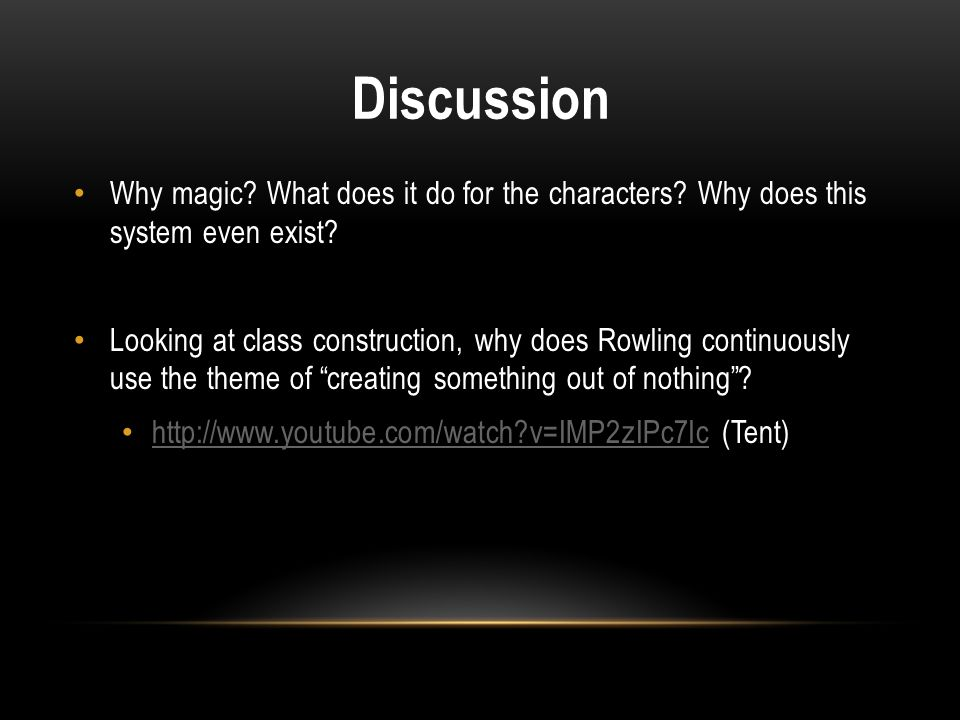 Discussion Why magic What does it do for the characters Why does this system even exist