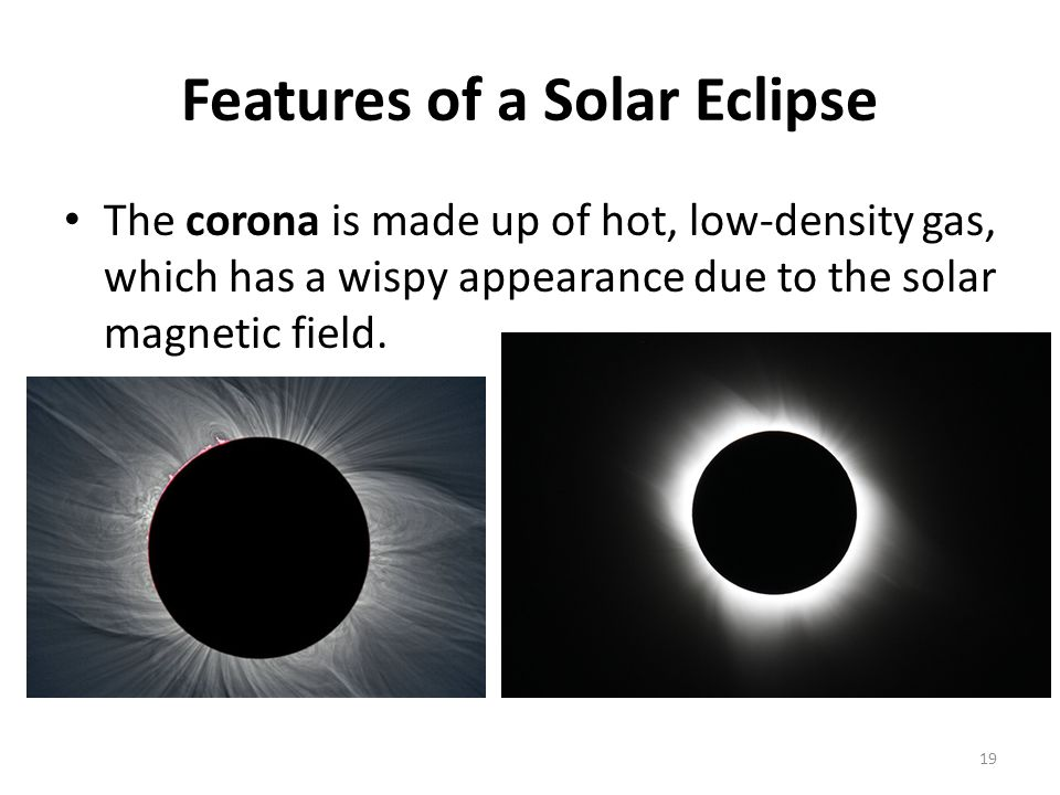 Features of a Solar Eclipse