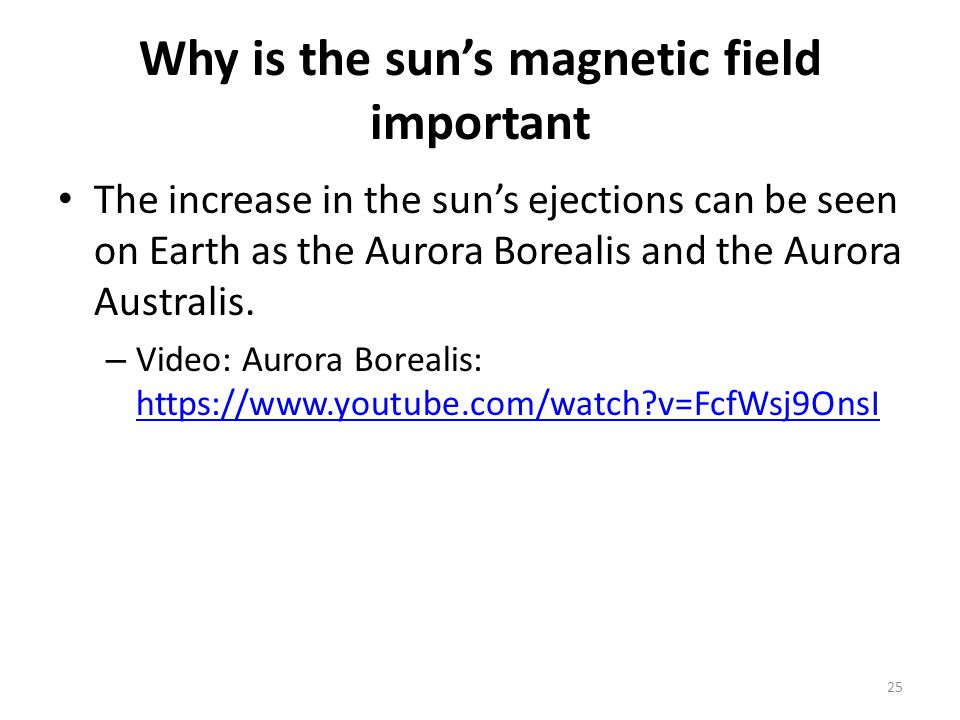 Why is the sun's magnetic field important