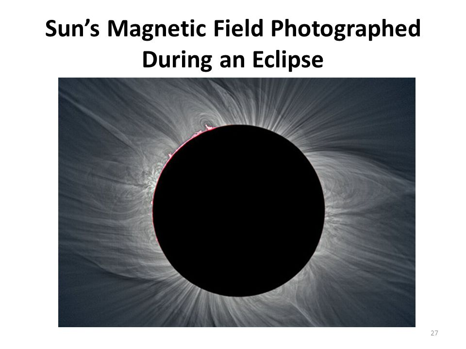 Sun's Magnetic Field Photographed During an Eclipse