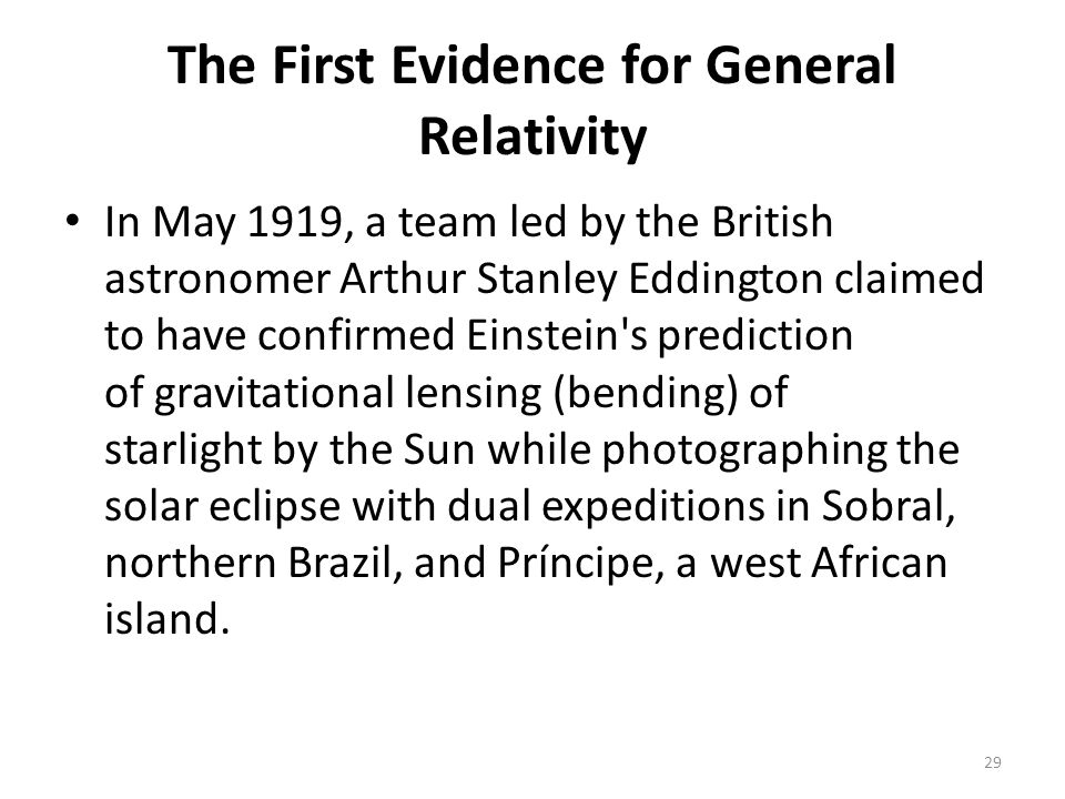 The First Evidence for General Relativity