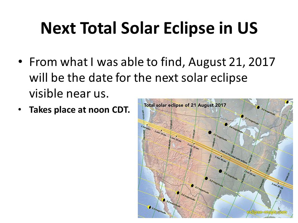 Next Total Solar Eclipse in US