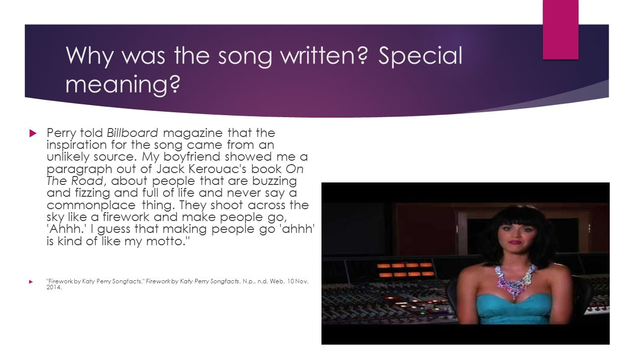 Why was the song written Special meaning