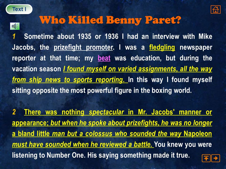 Text I Who Killed Benny Paret