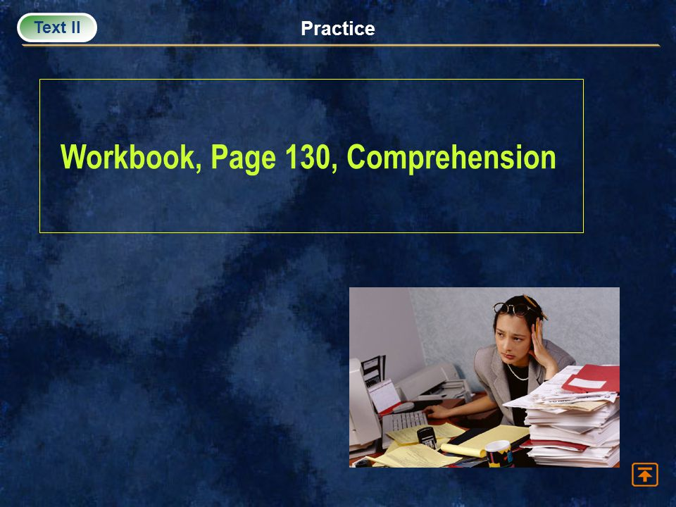 Workbook, Page 130, Comprehension