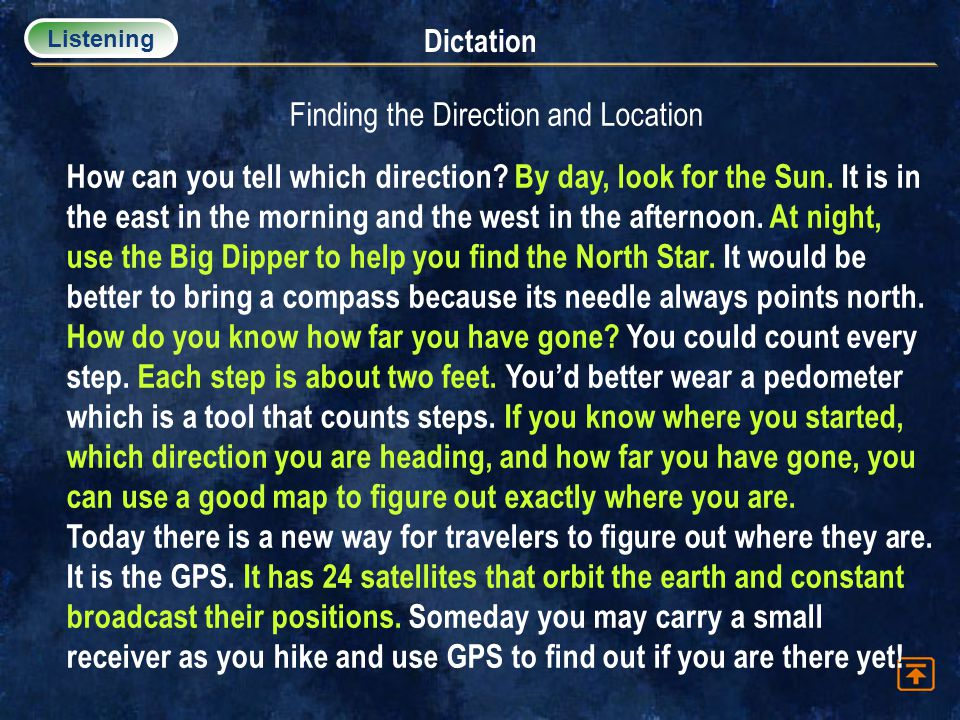 Finding the Direction and Location