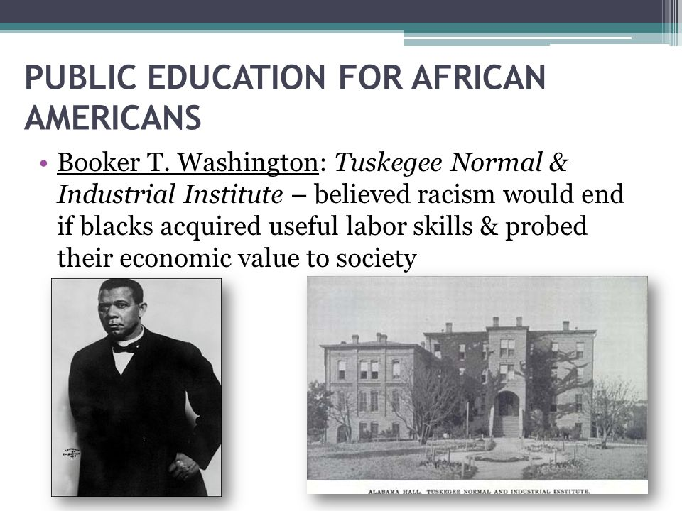 PUBLIC EDUCATION FOR AFRICAN AMERICANS