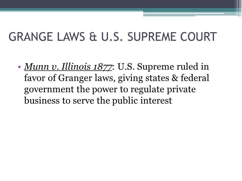 GRANGE LAWS & U.S. SUPREME COURT