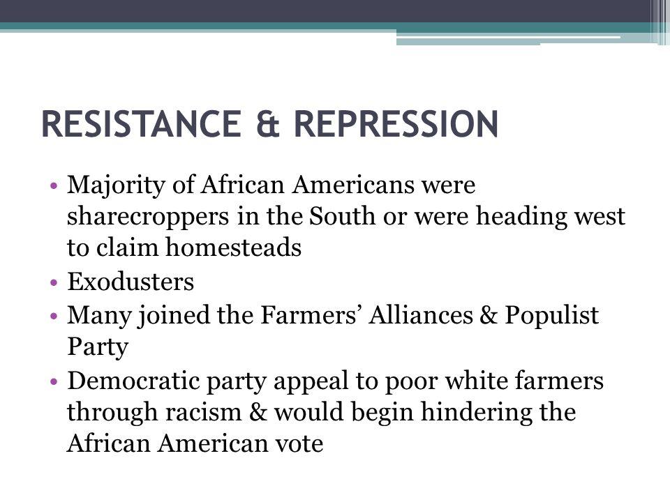 RESISTANCE & REPRESSION