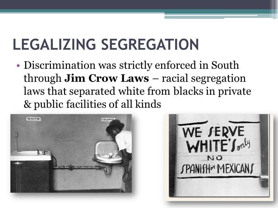 LEGALIZING SEGREGATION