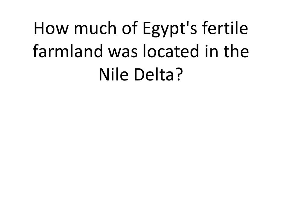 How much of Egypt s fertile farmland was located in the Nile Delta