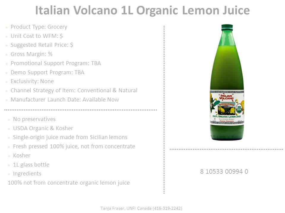 Italian Volcano 1L Organic Lemon Juice