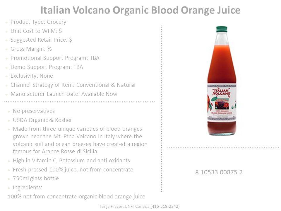 Italian Volcano Organic Blood Orange Juice