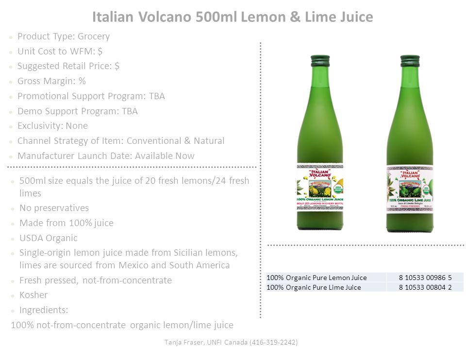 Italian Volcano 500ml Lemon & Lime Juice