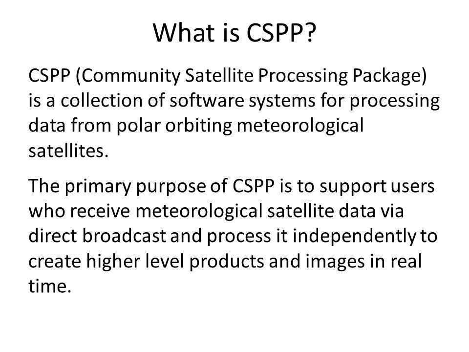 What is CSPP