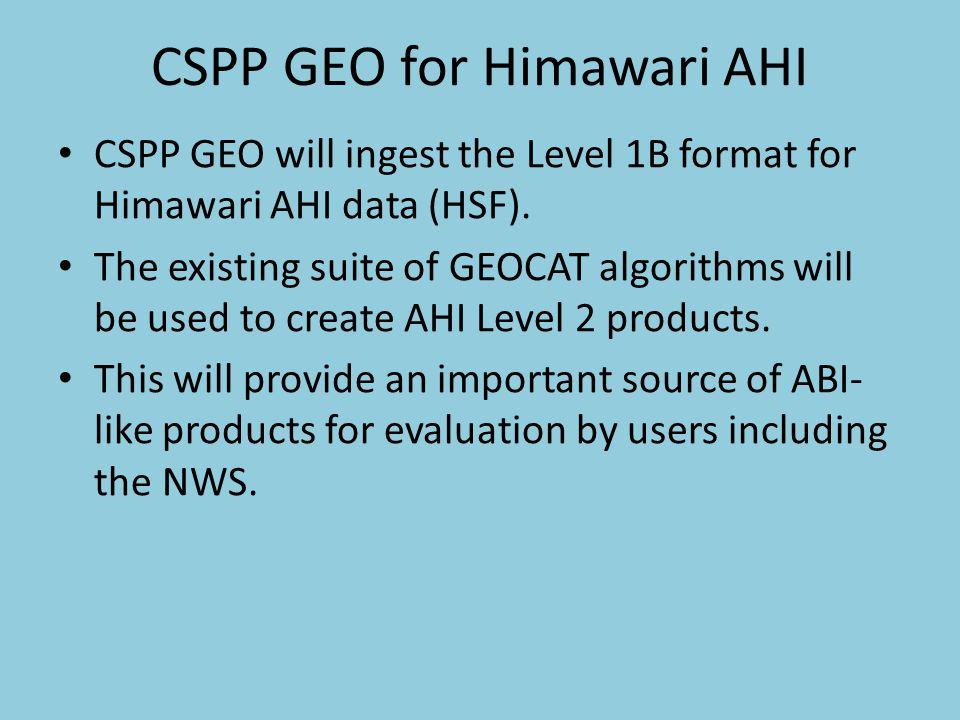 CSPP GEO for Himawari AHI
