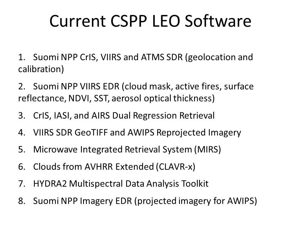 Current CSPP LEO Software
