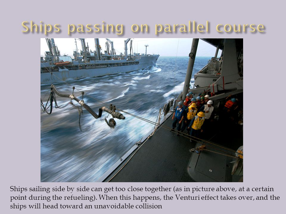 Ships passing on parallel course