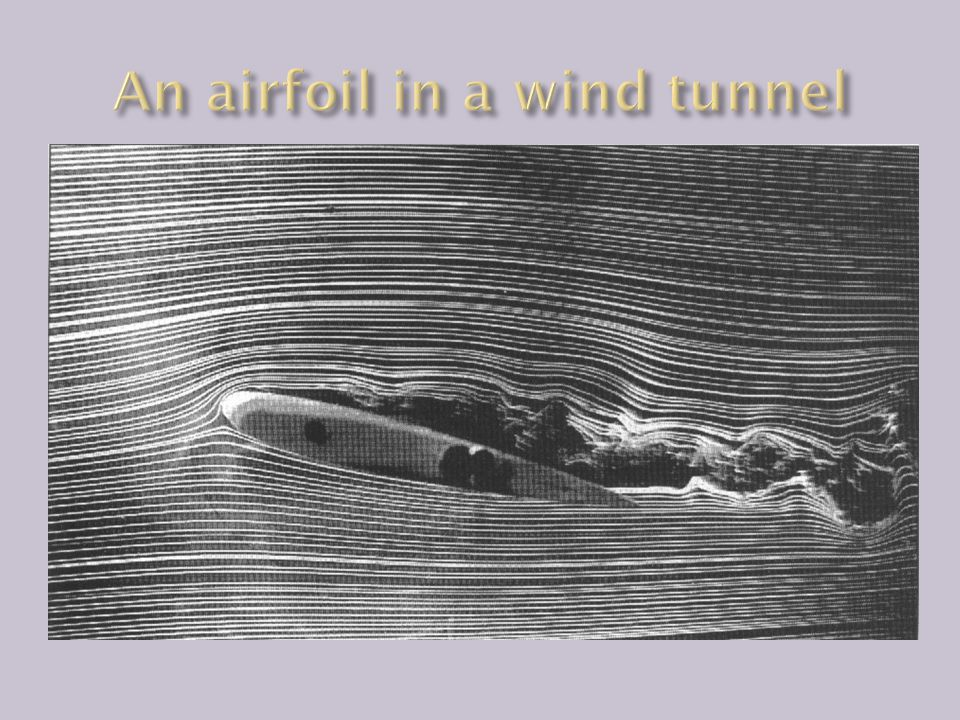An airfoil in a wind tunnel