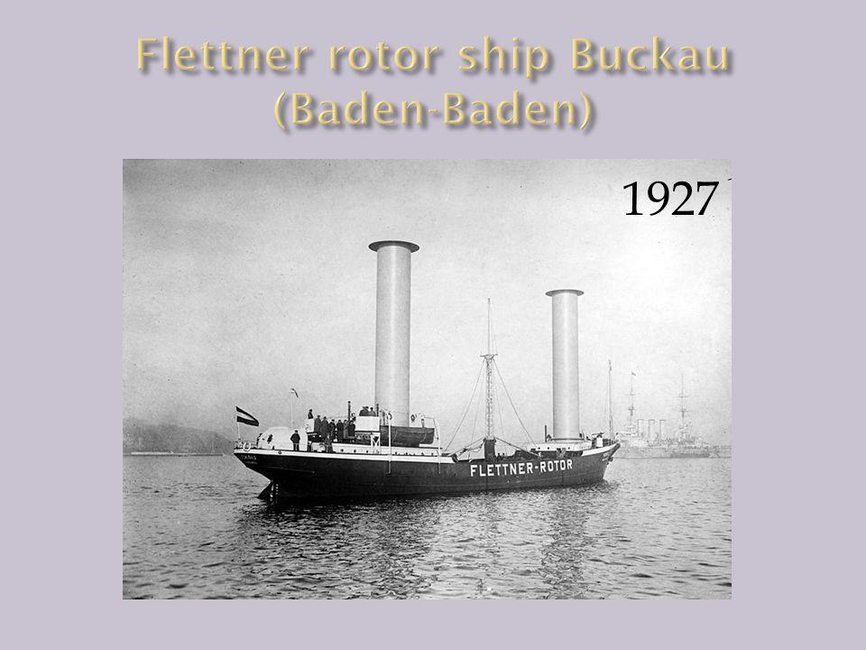 Flettner rotor ship Buckau (Baden-Baden)