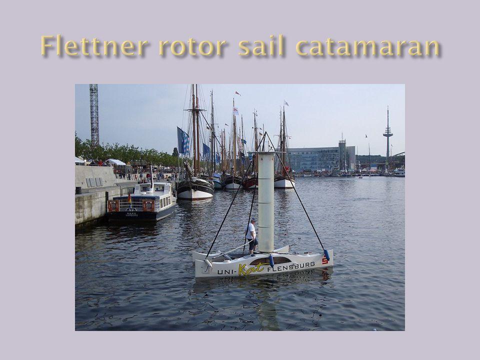 Flettner rotor sail catamaran