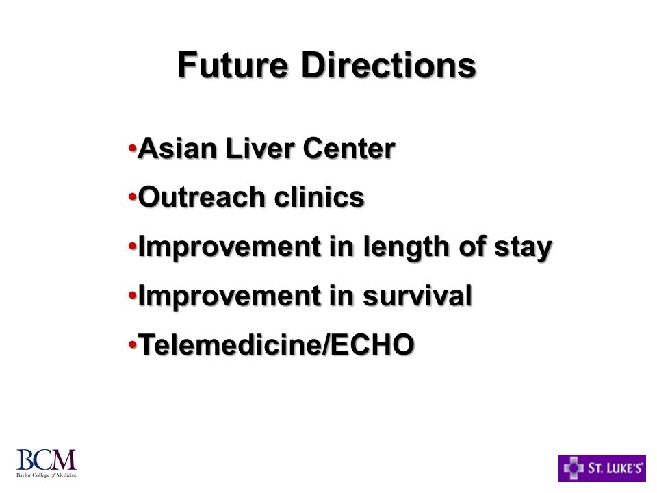 Future Directions Asian Liver Center Outreach clinics
