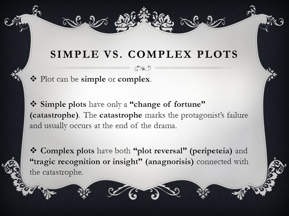 Simple vs. Complex plots
