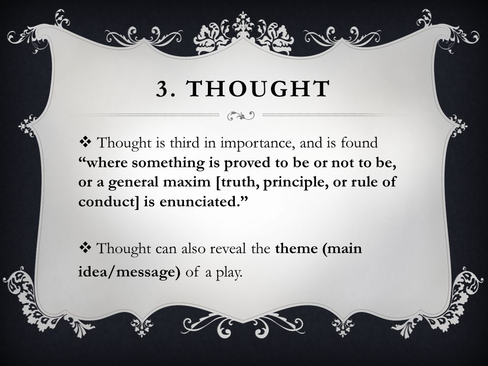 3. Thought