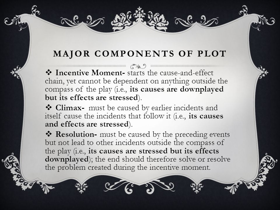 Major components of plot