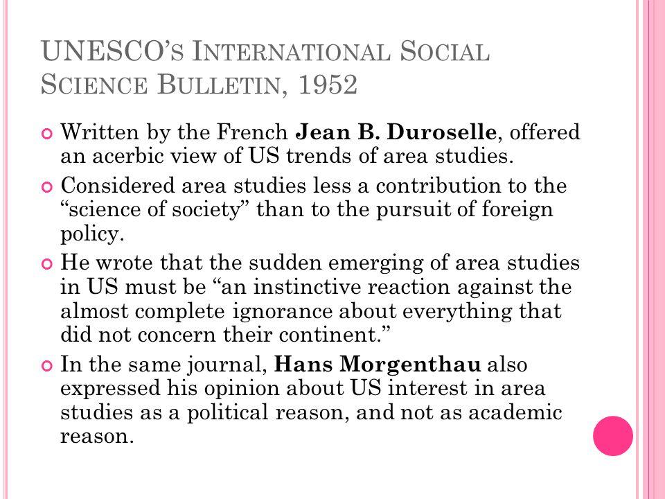UNESCO's International Social Science Bulletin, 1952