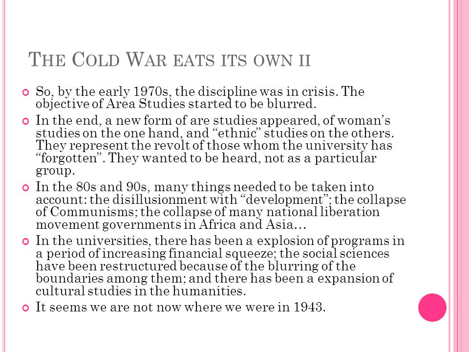 The Cold War eats its own ii
