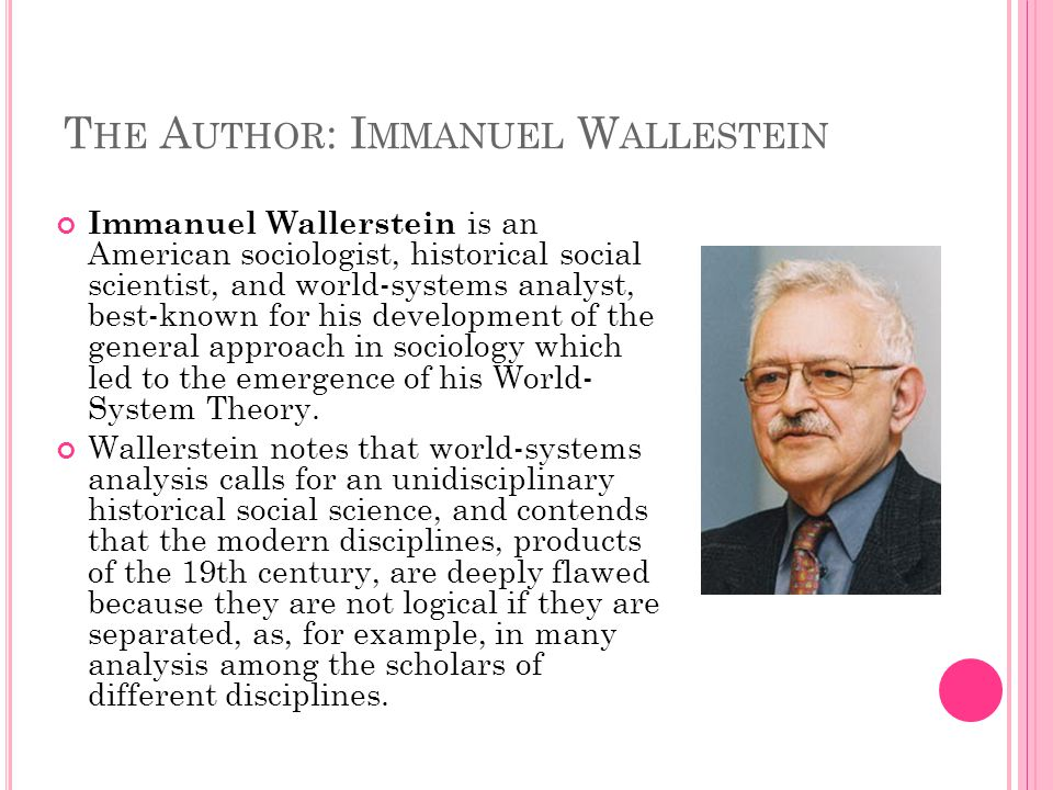 immanuel wallerstein world systems theory pdf