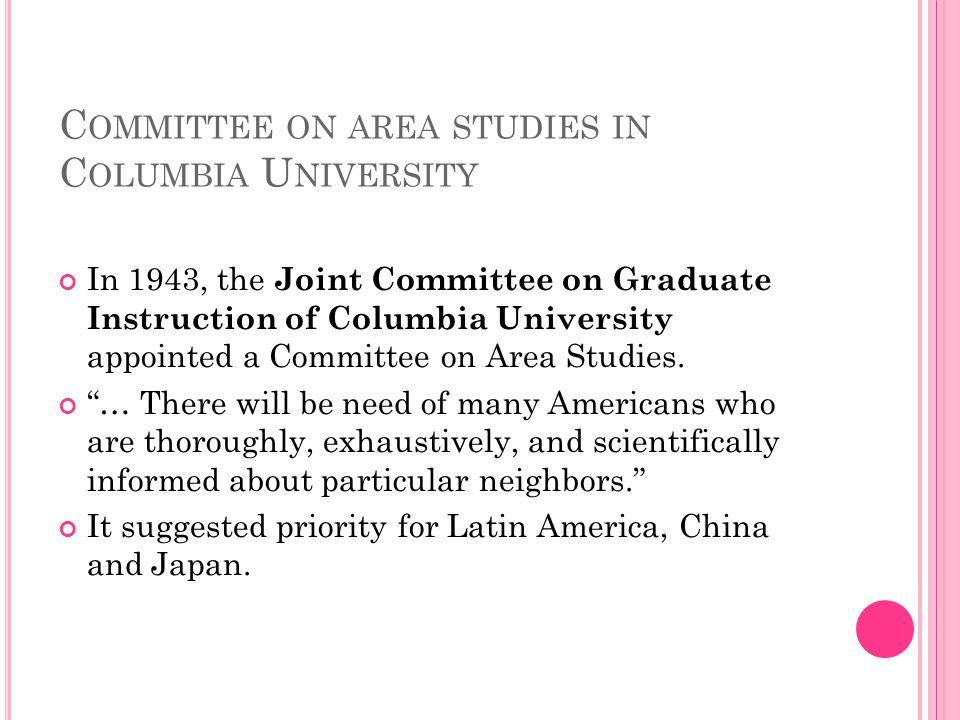 Committee on area studies in Columbia University
