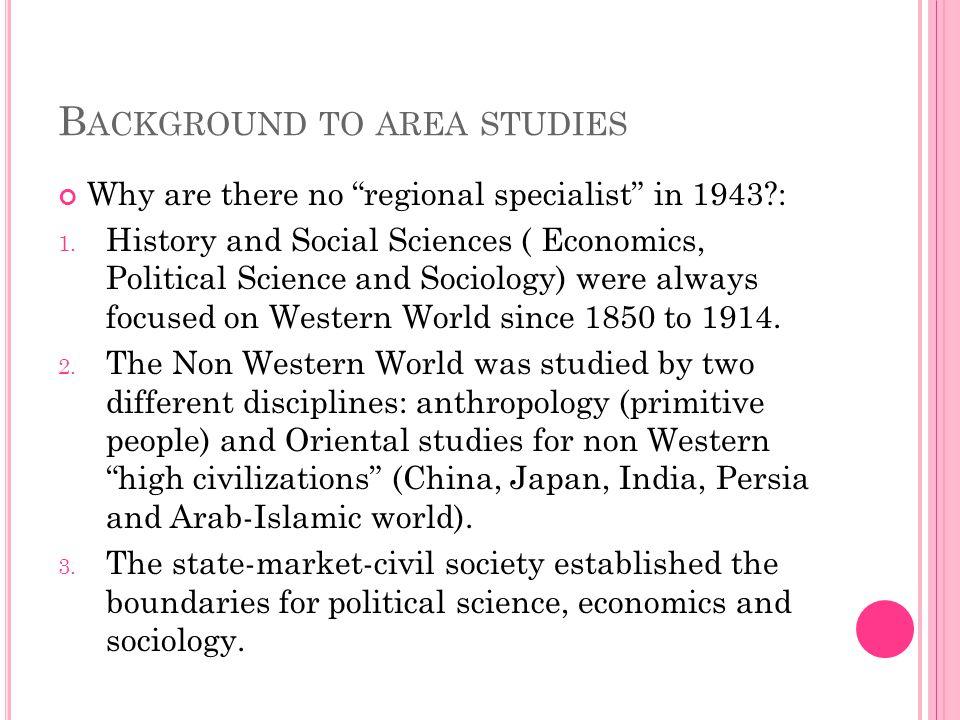 Background to area studies